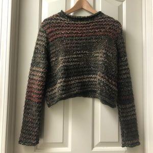 Zara Knit Crop Sweater in Multi (S)
